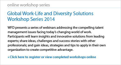 View and Download Previous Sessions from the Global Work-Life and Diversity Solutions Workshop Series
